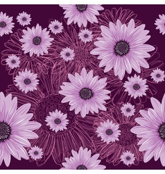 Seamless violet pattern with lined and colored vector image vector image