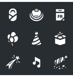 Set of Happy Birthday vector image vector image
