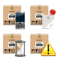 Shipment Icons Set 14 vector image vector image