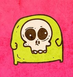 Skull tee cartoon vector