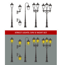 street lights vector image