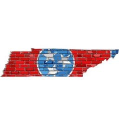 Tennessee map on a brick wall vector