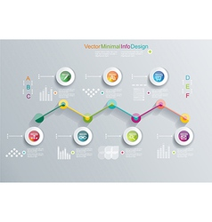 Time line design template with diagram set vector