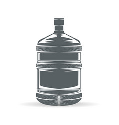 Water bottle monochrome vector