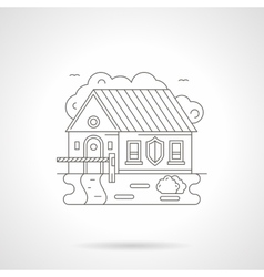 House with barrier line detail vector