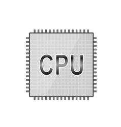 Central processor eps 10 vector