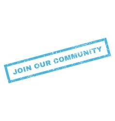 Join our community rubber stamp vector