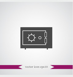 Safe icon simple vector