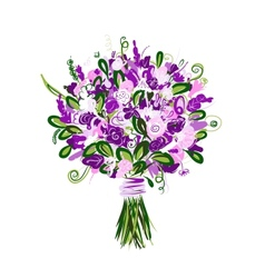 Floral bouquet for your design vector