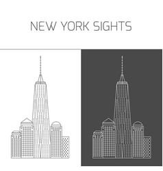 New york sights freedom tower world trade center vector