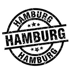 Hamburg black round grunge stamp vector