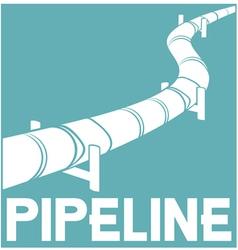pipeline sign - pipeline design vector image