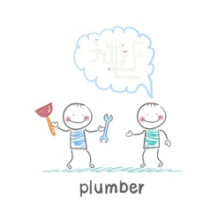 Plumber says customer vector