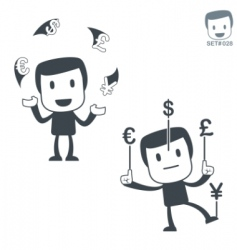 currency exchange icon man set028 vector image