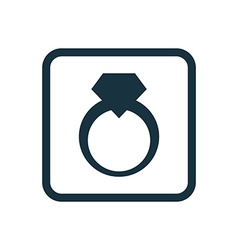 Jewelery ring icon rounded squares button vector