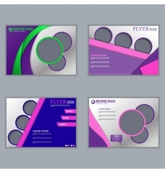 Set of horizontal flyers for design vector