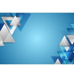Corporate tech geometric background with triangles vector