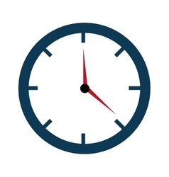 Colorful clock with time graphic vector