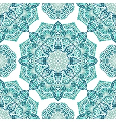 Icy turquoise pattern vector image
