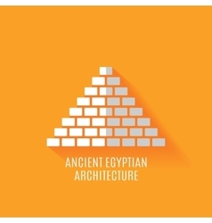 Ancient egyptian architecture icon vector