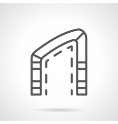 Asymmetric arch simple line icon vector