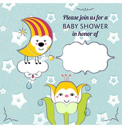Baby shower invitation card editable template vector image vector image