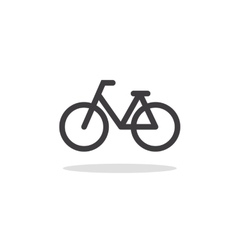 bicycle icon and symbol vector image vector image