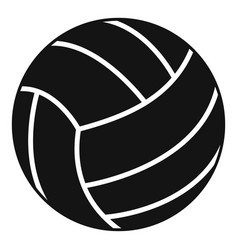 black volleyball ball icon simple style vector image