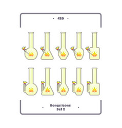 bongs icon set two vector image vector image