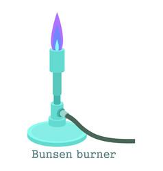 Bunsen burner icon cartoon style vector