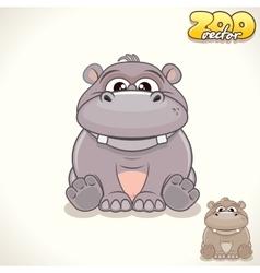 Cartoon Hippo Character vector image vector image
