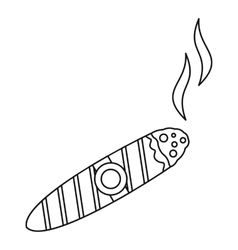 Cigar burned icon outline style vector