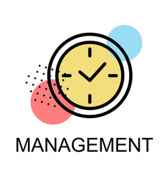 clock icons for management on white background vector image