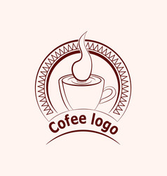 coffee or cup of tea vector image