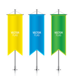 Colorful vertical banner flag templates vector