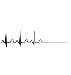 Death cardiac arrest cardio cardiogram vector