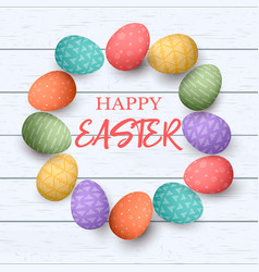 easter colorful eggs with different simple vector image vector image