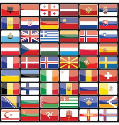 Elements of design icons flags of the countries of vector image