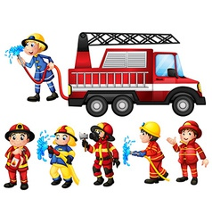 Firefighters vector image vector image