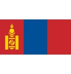 Flag of Mongolia correct size and colors vector image vector image