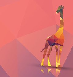 Geometric polygonal giraffe pattern design vector