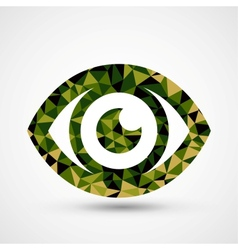 Green eye triangle pattern design vector