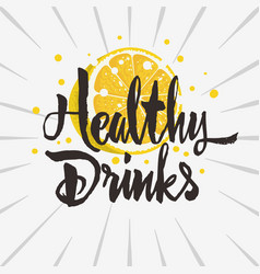 Healthy drink rough traced custom artistic vector