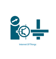 internet of things symbol vector image