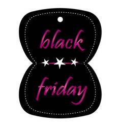 Isolated black friday label vector