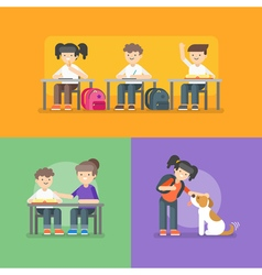 kids at school Back to school concept vector image vector image
