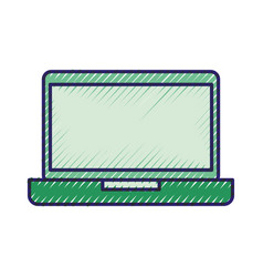 laptop device wireless digital technology vector image