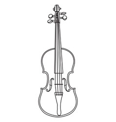 Line style violin isolated on white background vector image vector image
