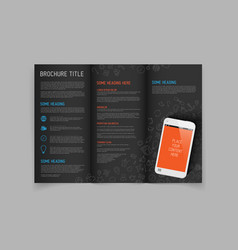 Modern three fold brochure design template vector