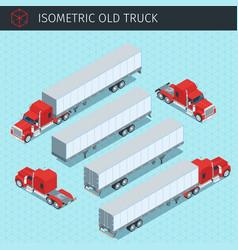 old cargo truck vector image